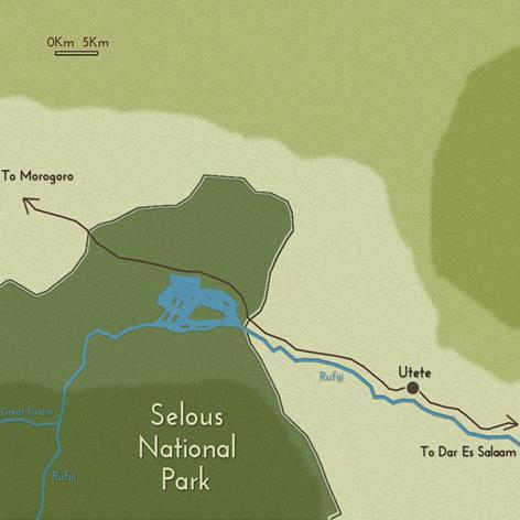 cartina Selous -